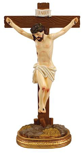 Picture of Resin Standing Crucifix 8 inch