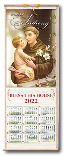 Picture of Wood Scroll Calendar - St. Anthony